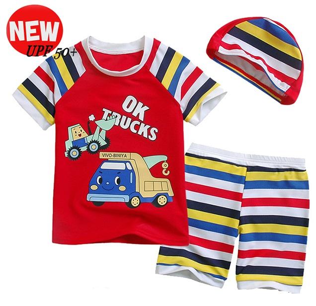 700d5149d Arrival at boy swimsuit boy swimming cap swimsuit set bathing suit child  water child swimsuit, ...