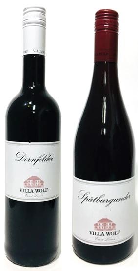 ドイツ主要赤ワイン品種飲み比べ ワインケナー ソムリエ試験対策にもお薦め ヴィッラ ヴォルフシュペートブルグンダー ピノノワール ドルンフェルダー飲み比べ2本セット ドイツワインセット 赤ワイン 蔵 産地 Wolf ヴォルフ ドイツワイン ファルツ Villa 全品送料無料 ヴィラ