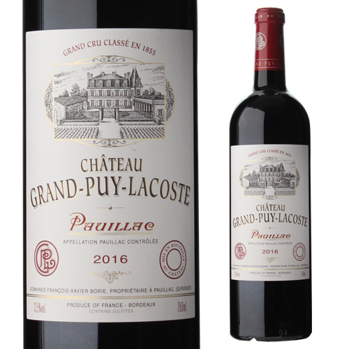 パーカーポイント94+点 限定価格セール メドック5級格付の実力蔵 P10倍 予約販売品 シャトー グラン ピュイ ラコスト 2016 P期間:2 格付5級 20~25まで フランス ボルドー 赤ワイン 750ml