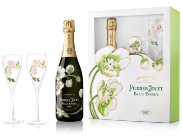 【1個限りのため返品交換不可】ペリエ ジュエ キュヴェ ベル エポック 2007年 ミレジメ グラス2脚セット ギフト箱入り 750ml シャンパン フランス シャンパーニュ 白 辛口 PERRIER JOUET BELLE EPOQUE gift