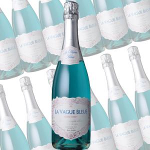 【まとめ買い】ラ・ヴァーグ・ブルー スパークリング キュヴェ・スイート/エルヴェ・ケルラン (スパークリングワイン)750ml×12本