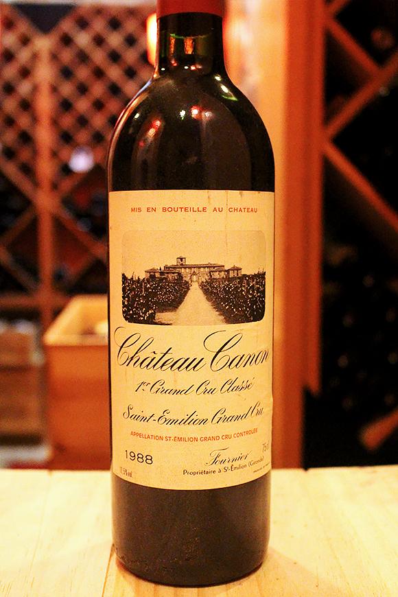 シャトー カノン[1988]Chateau Canonラベル・キャップ汚れ破れ等有り(ボトル参考まで)