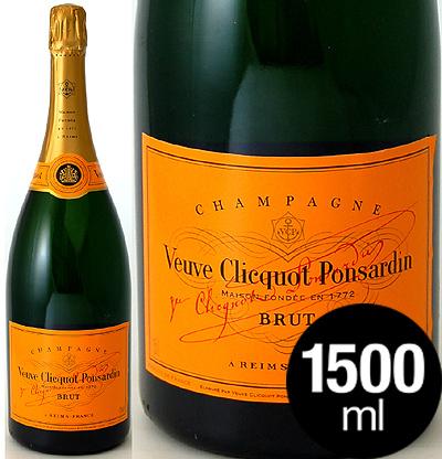 マグナムボトル 正規 ヴーヴ クリコ イエローラベル ブリュット1500ml (泡 白)(ワイン(=750ml)9本と同梱可)[tp]