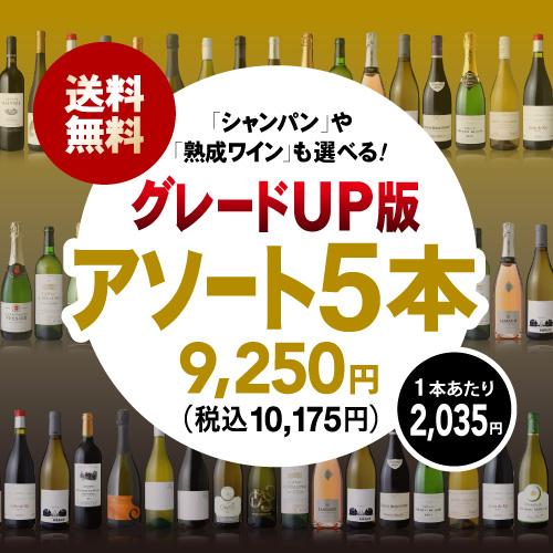送料無料 組み合わせ自由自在! 好きなワインを自由に選べるアソート5本 オリジナルワインセット(追加7本同梱可)(代引き クール便別途)