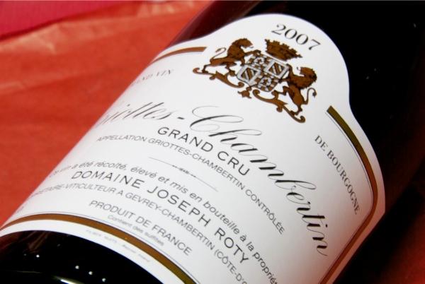 ジョセフ・ロティー / グリオット・シャンベルタン 2007【グルメ201212_ビール・洋酒】