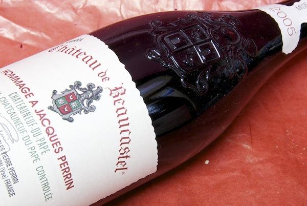 シャトー・ド・ボーカステル / シャトー・ヌフ・デュ・パフ・オマージュ・ア・ジャック・ペラン [2005]【グルメ201212_ビール・洋酒】