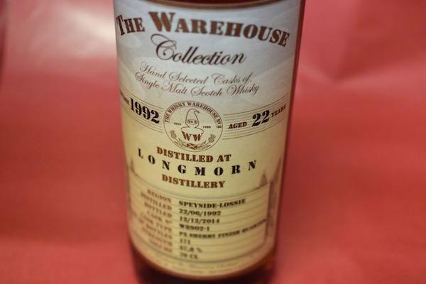 ザ・ウエアーハウス・コレクション / ロングモーン 1992/2014 22年 57.8% 700ml【モルト・ウイスキー】