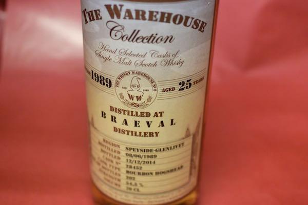 ザ・ウエアーハウス・コレクション / ブレイヴァル 1989/2014 25年 54.5% 700ml【モルト・ウイスキー】