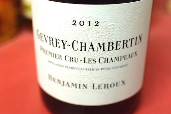 バンジャマン・ルルー / ジュヴレ・シャンベルタン・プルミエ・クリュ・レ・シャンポー [2012]【赤ワイン】