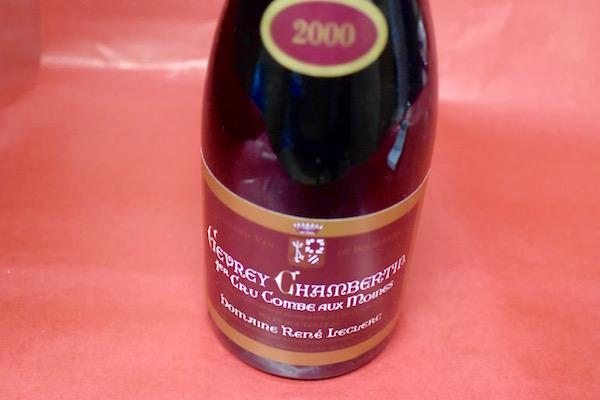 ドメーヌ・ルネ・ルクレール / ジュヴレ・シャンベルタン・プルミエ・クリュ・コンブ・オー・モアンヌ [2000]【赤ワイン】
