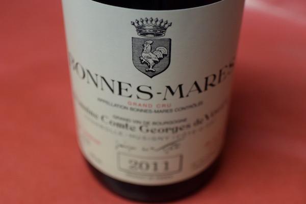 コント・ジョルジュ・ド・ヴォギエ / ボンヌ・マール [2011]【赤ワイン】