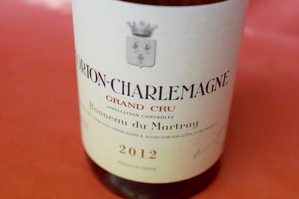 ボノー・デュ・マルトレイ / コルトン・シャルルマーニュ・グラン・クリュ [2012]【白ワイン】