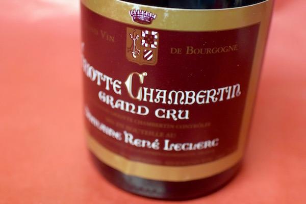ドメーヌ・ルネ・ルクレール / グリオット・シャンベルタン [2012]【赤ワイン】