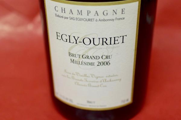 エグリ・ウーリエ / ブリュット・グラン・クリュ・ミレジメ [2006] ブリュット(デコルジュマン2016)【シャンパン(泡物)】