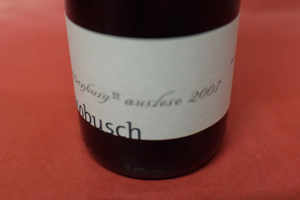 クレメンス・ブッシュ / マリーエンブルク・アウスレーゼ・ランゲ・ゴールドカプセル X [2007] 375ml【白ワイン】