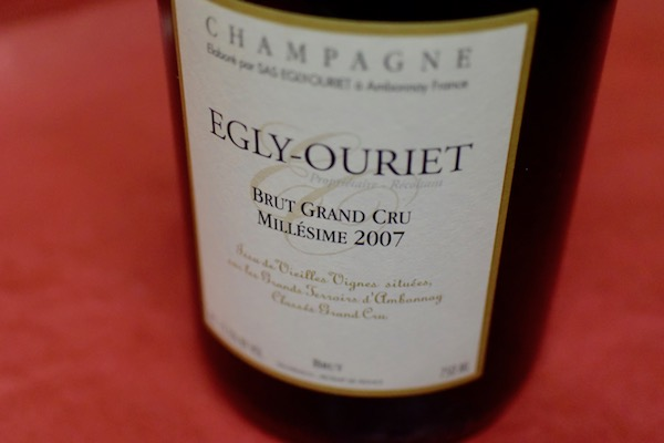 エグリ・ウーリエ / ブリュット・グラン・クリュ・ミレジメ [2007] ブリュット(デコルジュマン2017)【シャンパン(泡物)】