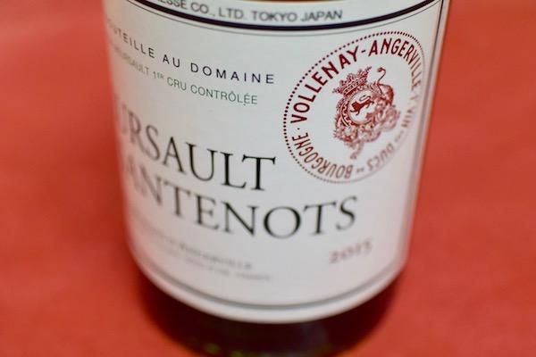 ドメーヌ・マルキ・ダンジェルヴィーユ / ムルソー・サントノ 2015年(白ワイン)【白ワイン】
