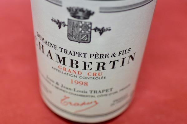 ジャン& ジャン・ルイ・トラペ / シャンベルタン・グラン・クリュ [1998]【赤ワイン】