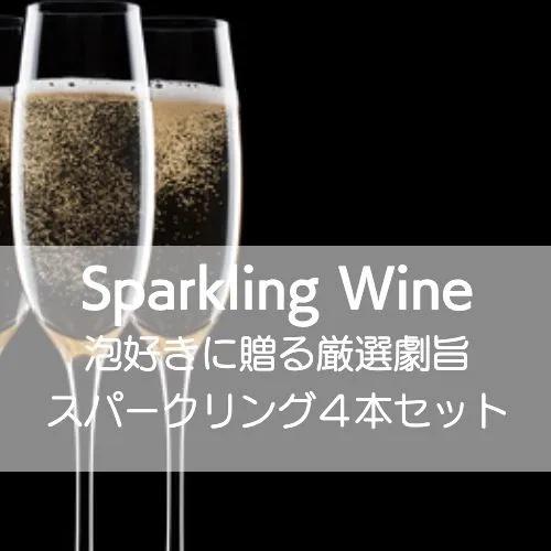 市販 ワインホリックの厳選ワインセット 泡好きに贈る厳選激旨スパークリング4本セット 物品 ワインセット