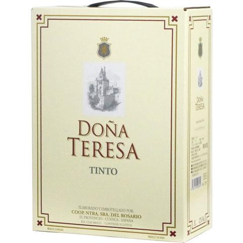 柔らかくなめらかな飲み心地のスペイン産赤ワイン 売却 BOXよりどり6個で送料無料 赤 ドーニャ テレサ ティント バッグインボックス 新品 送料無料 あす楽対応_関東 箱ワイン 3 ボックスワイン boxワイン 000ml