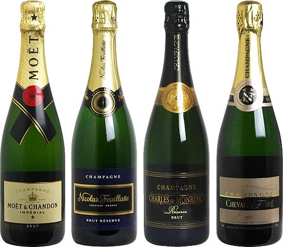 【送料無料】<第3弾> シャンパンセット(泡4本) 【あす楽対応_関東】 【smtb-T】 モエ・エ・シャンドン、ニコラ・フィアットなど人気のシャンパン入り!