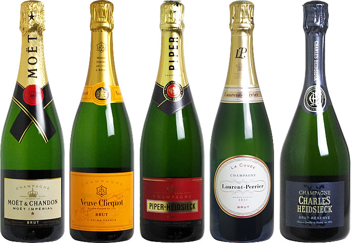 ワイン セット 【 送料無料 】 グランメゾンシャンパーニュセット(泡5本) 【あす楽対応_関東】 【smtb-T】 シャンパン