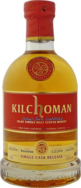 【CG】キルホーマン 2009 バーボンバレル 5年 #515 58度 700ml
