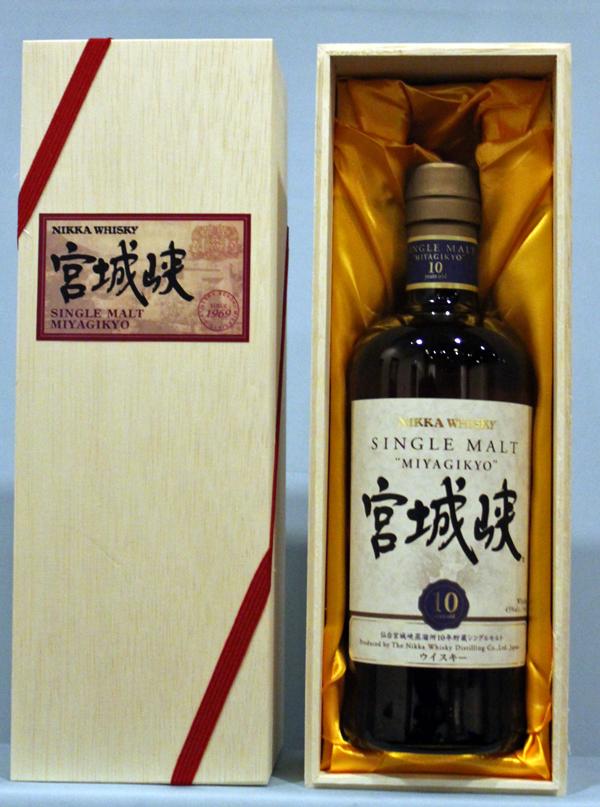 NIKKA ニッカ シングルモルト 宮城峡 10年 木製BOX700ml アルコール45% 桐箱