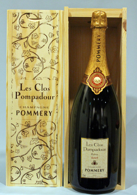 ポメリー レ・クロ・ポンパドール[2003]Pommery Les Clos Pompadour Brut 1500mlシャンパーニュ ギフト箱付き マグナム