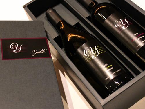 Y by Yoshiki Chardonnay&Cabernet[2008]霞多麗幹白葡萄酒墻盧內原始物禮品盒2瓶一套Y·經由·yoshiki