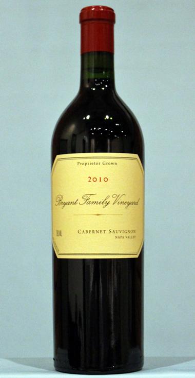 ブライアント ファミリー カベルネソーヴィニヨン ナパヴァレー[2010]Bryant Family Vineyard Estate Cabernet Sauvignon Napa Valley