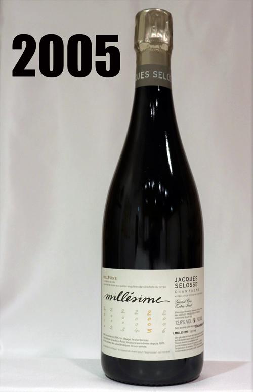 ジャックセロス ミレジメ[2005]ヴィンテージJacques Selosse Extra Brut Grand Cru Millesime 750ml