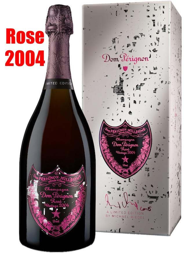ロゼ キュヴェ ドン ペリニヨン ミハエル・リーデル[2004]Dom Perignon Rose Vintage MICHAEL RIEDEL BOX付き