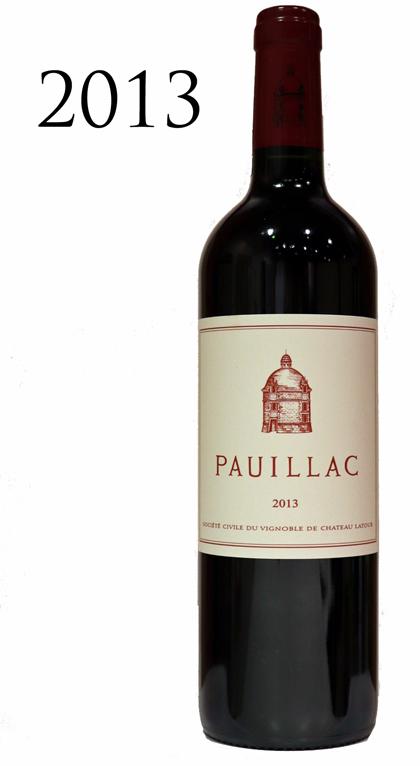 ポイヤック ド ラトゥール[2013] PAUILLAC DE LATOUR / PAUILLAC シャトーラトゥール サード