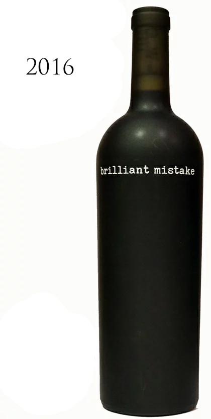 ブリリアント・ミステイク カベルネソーヴィニヨン[2016]brilliant mistake wines Napa Valley 750ml