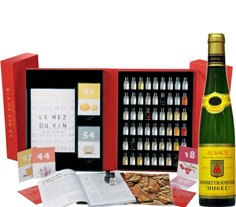 お試しワイン 1本付き ソムリエ試験対策 送料無料(離島・沖縄対象外)  Le Nez du Vin ルネデュヴァン 54種 ワインの香り 正規輸入品ワイン ソムリエ試験対策 アルザス ゲヴェツルトラミネール デミ1本付き