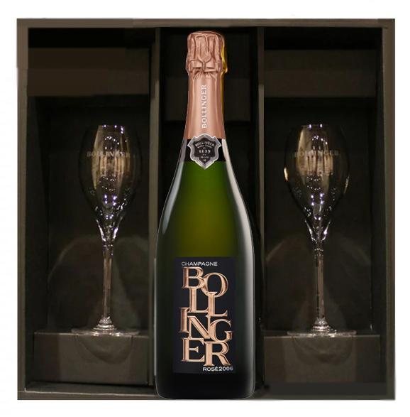 ボランジェ リミテッドエディション ロゼ[2006] ペアグラス正規品  Bollinger limited edition rose 750ml  アイ村