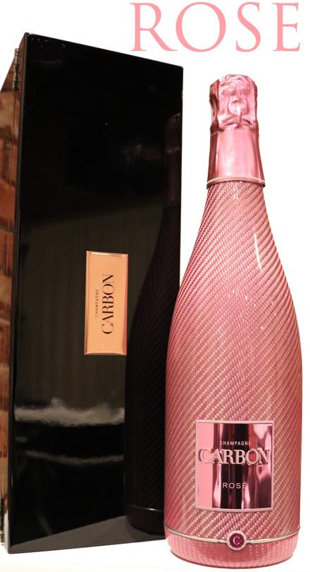 ロゼ特別ボトル カーボン ブリュット シャンパーニュ[NV]CARBON BRUT CHAMPAGNE ROSE カルボン 箱付き ピアノ塗装 750ml