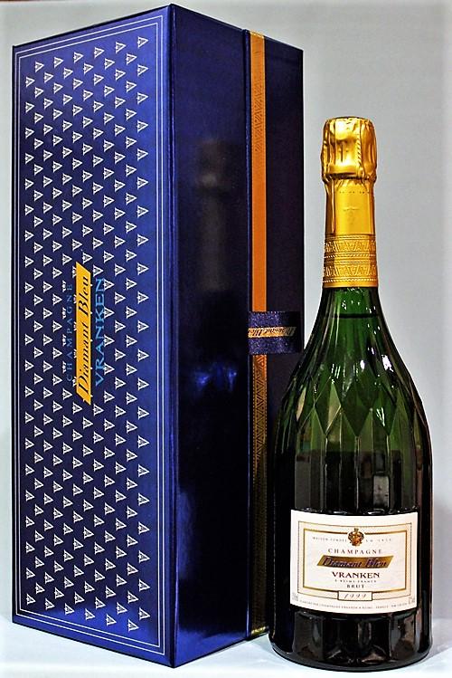 ヴランケン ディアマン ブルー ブリュット[1999]Vranken Diamant Bleu Brut シャンパーニュ ギフト箱付き クリスタルカット