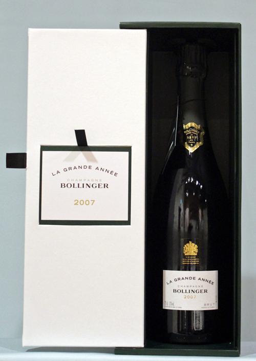 ボランジェBollingerラ・グランダネ [2007]送料無料 豪華専用BOX付きBollinger La Grande Annee