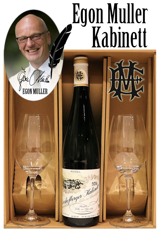 ペアグラスセット エゴンミュラー シャルツホーフベルガー リースリング カビネット[2016]Signature wine glasses set EGON MULLER SCHARZHOFBERGER RIESLING Kabinett