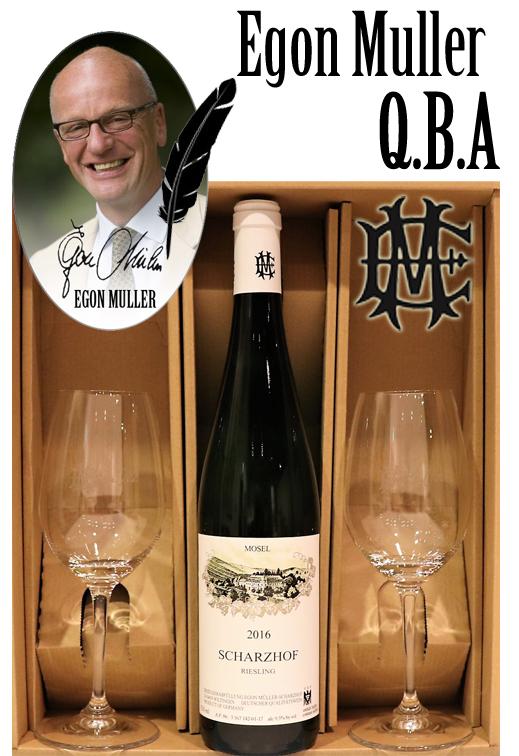 ペアグラスセット エゴンミュラー シャルツホーフ リースリング[2016]エッチングサインwine glasses set EGON MULLER SCHARZHOF RIESLING qba Signature