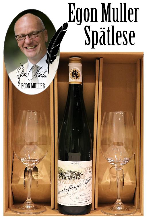 2015 ペアグラスセット エゴンミュラー シャルツホーフベルガー リースリング シュペトレーゼ[2015]EGON MULLER SCHARZHOFBERGER RIESLING Spatlese Signature wine glasses set