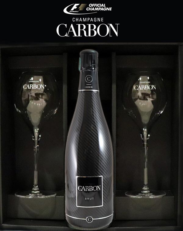 カーボン ブリュット シャンパーニュ 公式グラスセット[NV]CARBON BRUT CHAMPAGNE 2客 カルボン 750ml