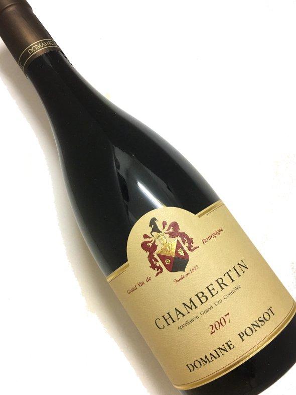 【ドメーヌ・ ポンソ 】シャンベルタン・グラン・クリュ[2007]750ml【結婚記念日】 【赤ワイン 】【誕生年】【母の日】【お歳暮】【ワインギフト】《取り寄せ商品》