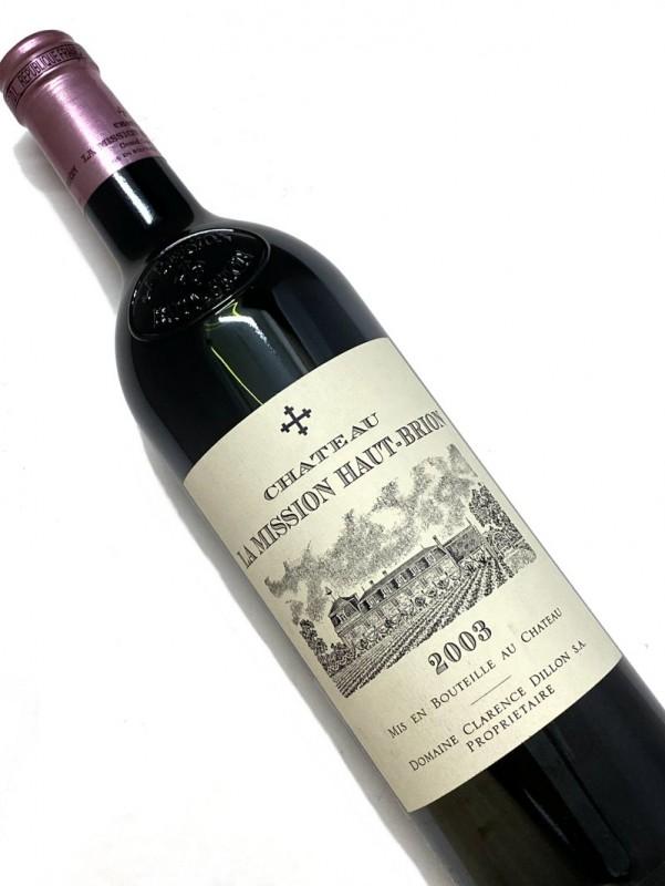 2003年 シャトー・ ラ ・ミッション ・オー・ブリオン 750mI【結婚記念日】 【赤ワイン 】【コク辛口】【誕生年】 【取り寄せ商品】