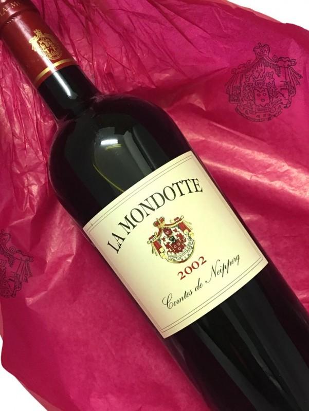2002年 ラ・モンドット 750ml【結婚記念日】 【赤ワイン 】【誕生年】【母の日】【お歳暮】【ワインギフト】《取り寄せ商品》