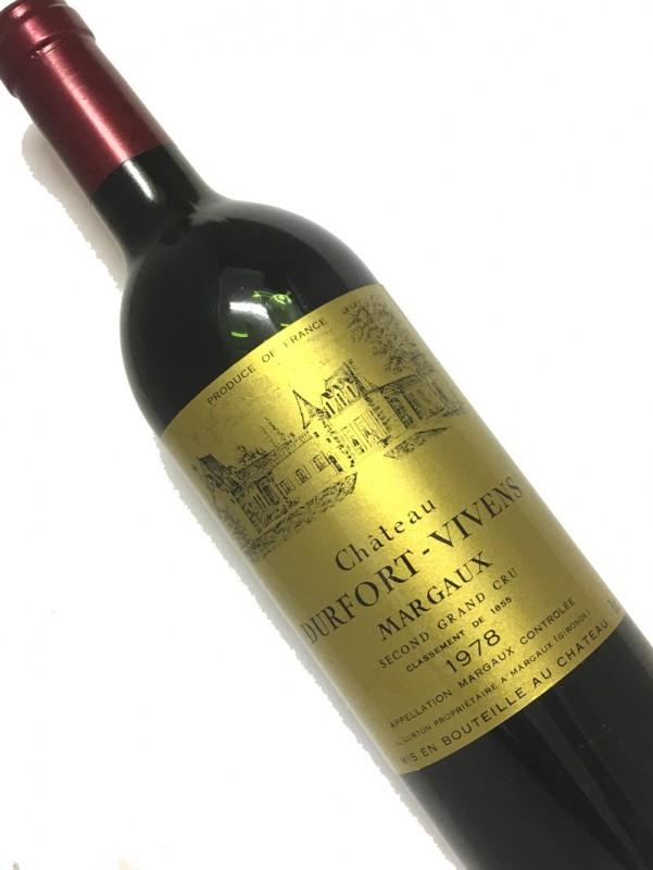 [1978] シャトー・デュル・フォール・ヴィヴァン 750ml【結婚記念日】 【赤ワイン 】【コク辛口】【誕生年】《取り寄せ商品》