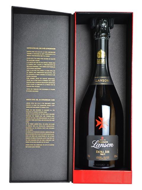 【豪華ギフト箱入】ランソン シャンパーニュ エクストラ エイジ ブリュット フランス AOC シャンパーニュ 正規 箱付 白ワイン 辛口 泡 シャンパン 750mlLanson Champagne Extra Age Brut Dx Gift Box AOC Champagne