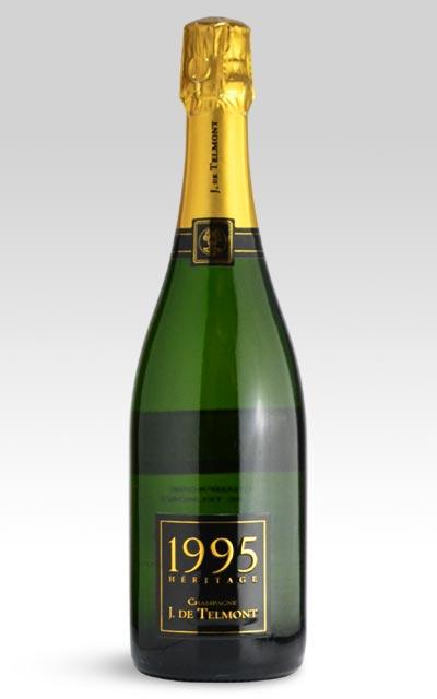 1995年 J (ジ) ド テルモン シャンパーニュ ヘリテージ ブリュット ミレジム 1995 J ド テルモン社 (王冠とラベルの浮き文字に本物の 24金 使用) フランス 白 泡 シャンパン ワイン 750mlJ. DE TELMONT Champagne Heritage Brut Millesime [1995]